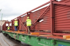 Organization of loading, fastening and  shipping of oversized cargo
